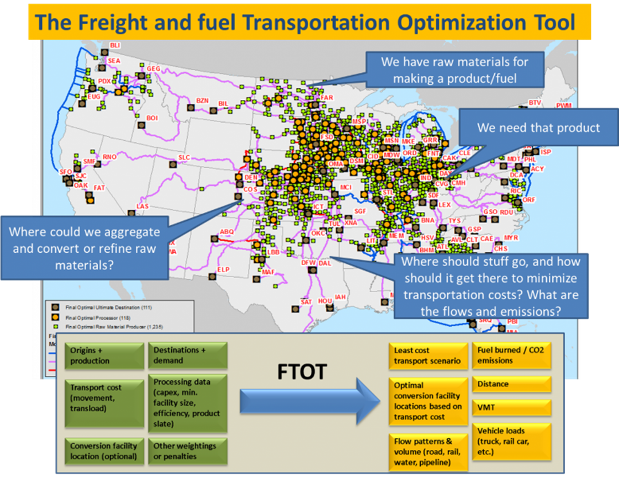U.S. DOT Volpe Center Tool Evaluates Freight and Fuel Transport Options.